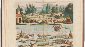 Frederick-Hendrik van den Hove, Samenes levemåte, sommer og vinter, i Moses Pitt, The English Atlas – Volume I – Scandinavia and The North, 1680.