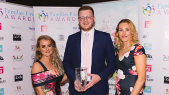 Ashley McMaster, Michael Campbell and Claire Duddy from Mid and East Antrim Borough Council collecting the award for Best Family Park