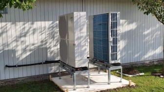 Värmepumpar sparar 70 procent energi hos BoKlok i Eslöv
