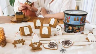 Tips på spökhus och läskiga figurer av GILLE Mini Pepparkakshus och GILLE Pepparkaksfigurer.