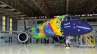 Samarbete med Azul Airlines och Embraer för att hylla spixaran, som är en brasiliansk nationalsymbol
