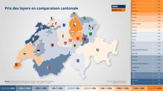 Les cantons du Jura, de Neuchâtel et de Glaris affichent les loyers les moins chers