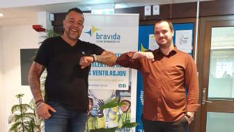 Anthoni R Dias, LK Systems AS og Simon Strømmen, Bravida Norge AS