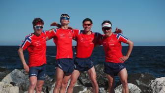 Casper Stornes, Jørgen Gundersen, Gustav Iden og Kristian Blummenfelt har fått trent bra og er i god form før WTS-løpet i Bermuda lørdag 28. april
