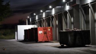 Biomasseanlage Essenheim im Sonnenaufgang