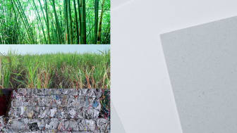 bamboo, sugarcane and recycled paper(left)_Original Blended Material(right)
