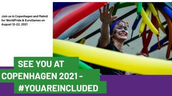 PRESSINBJUDAN: Idag ger vi en första presentation av vad som händer under WorldPride och EuroGames 2021