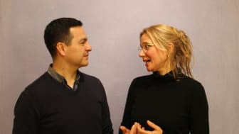 Regieteam für ‹Faust am Goetheanum› 2020: Eduardo Torres (Eurythmie) und Andrea Pfaehler (Schauspiel) (Foto: Sebastian Jüngel)