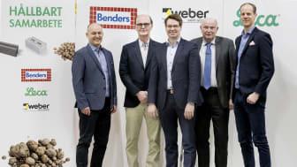 Från vänster: Mats Jakobsson, Ove Bender, Andrew Kristensen, Bengt Johansson och Anders Anderberg