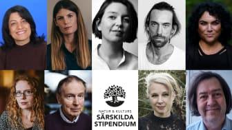 Nio författare tilldelas Natur & Kulturs särskilda stipendium