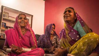 Hungerprojektet driver ledarskapsprogram i Indien som stärker kvinnor att göra sina röster hörda och organisera sig.