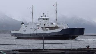 Ferje ved Seivika (Foto: Møre og Romsdal fylkeskommune)