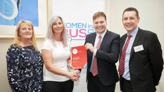 Joanne Keenan presented with her Team GNE Bus Driver of the Year certificate