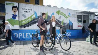 Danmark for Målene - par på cykler