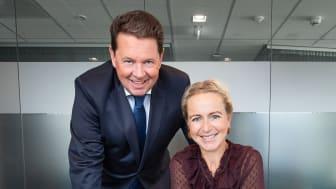 Terje Gundersen og Linda Marie Tanum i Eurojuris Norge har vært ansvarlige for prosessen med å sertifisere alle kontorene etter kvalitetsstandarden ISO 9001. (Foto: Torbjørn Tandberg)