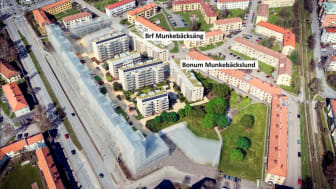 Nya Munkebäck, bostadsrätter, Riksbyggen, översikt