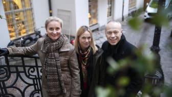 Karin Linge Nordh, Anders Sjöqvist och Sara Lindegren redo för att etablera Strawberry Publishing på den svenska marknaden.