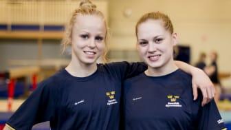 Onsdag 6 april kl 15.45 startar EM för Jonna och Veronica