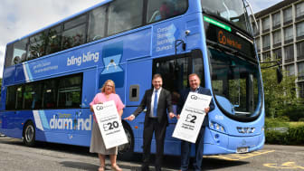 (L-R) Cllr Hopgood leader of Durham County Council, Martijn Gilbert managing director at Go North East and Stephen King commercial director at Go North East