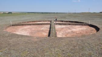 Utgrävning av en begravningsplats i södra Uralerna. Foto: Ila Shuteleva och Nikolai Shcherbakov.