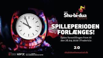 Fredericia Teater forlænger spilleperioden for SHU-BI-DUA – THE MUSICAL med en uge