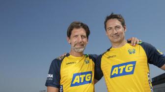 Handbollens förbundskaptener Tomas Axnér, dam, och Glenn Solberg, herr. Foto: Ryno Quantz/ATG