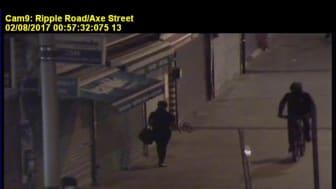 CCTV footage of males on bikes