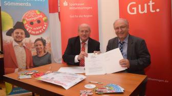 Dieter Bauhaus und Ralf Hauboldt unterschrieben am heutigen Vormittag den Sponsorenvertrag
