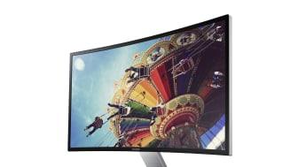 Bli omgitt av Samsungs nye Curved monitor