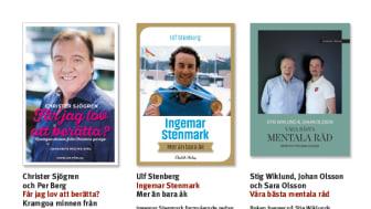 Böcker om Christer Sjögren, Ingemar Stenmark och Johan Olsson bland Ekerlids höstutgivning