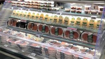 Väddös produkter tar plats i butik
