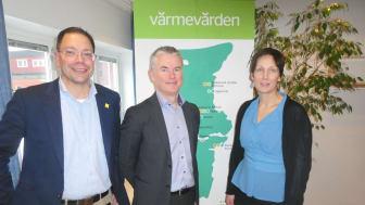 Styrelseledamöterna Bengt Östling, Anders Ericsson och Ulrica Momqvist.