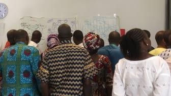 Workshop om religions- och övertygelsefrihet med Svenska missionsrådets partners i Västafrika tidigare i år.