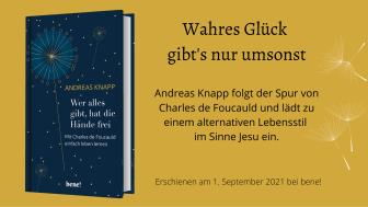 Wer alles gibt, hat die Hände frei - neues Buch von Andreas Knapp