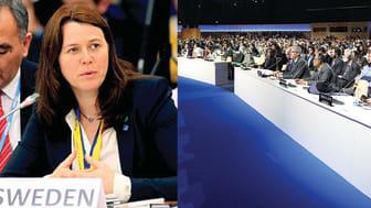 Åsa Romson på klimatmötet i Paris 2015. Foto: IISD/ENB