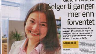 Glutenfri flerkornwrap gjør suksess