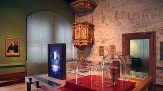 """Teil des Ausstellungsraumes """"Luther im Disput"""" im Stadtgeschichtlichen Museum Leipzig (Altes Rathaus am Markt)"""