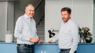 Jan Zetterström, förbundsordförande Säljarnas, och Stephen Schad, vd Frilans Finans Sverige AB