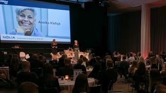 Annika Klefsjö föreläste på Nolia Ledarskap.