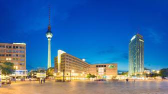 Berlin: Alexanderplatz med fjernsynstårnet