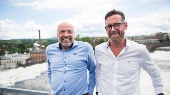 NYTENKERE: Sammen ser Ole Sunnset i Ringerikskraft (t.v) og Magnar Bjørk i Epos consulting på alternative løsninger til kostbare nettinvesteringer.