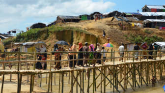 Fkyktingläger i Bangladesh 2017