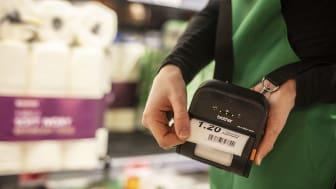RJ etikettskriver, pris og logistikk info