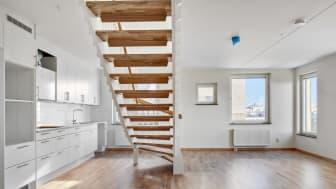 Stort kök och öppen planlösning i den sista lägenheten i Scheele Promenad