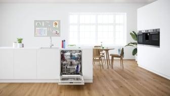 De nya Bosch PerfectDry-diskmaskinerna med en extra tredje korg och effektiv Extra Clean Zone