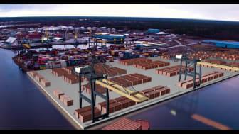 Ostkustens största containerhamn blir dubbelt så stor