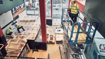 Tillsammans med Elbjörn, lanserar Ramirent Uppkopplad byggvärme - ett system som bidrar till att hålla nere energiförbrukningen på en byggarbetsplats.  Foto: Ramirent