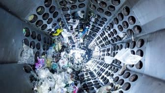 Abfallsortierung: Trommelsieb zur Trennung nach Verpackungsgröße
