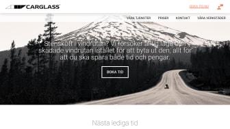 Carglass nya hemsida