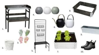 Det skal være enkelt å dyrke og plante. I vår fylles Rustas varehus med mengder av hageredskaper, tilbehør og potter. Alt for at du skal kunne skape ditt eget grønne rom.